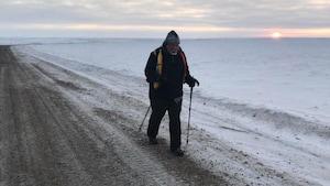 La fin d'un périple à pied de 21000km à travers le Canada