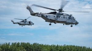 Premier vol pour les hélicoptères Cyclones 10ans après la date prévue
