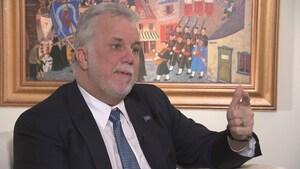 Philippe Couillard demeure confiant pour l'avenir de Bombardier à La Pocatière