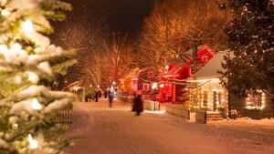 Le Village québécois d'antan s'illumine pour Noël