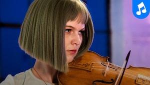 La violoniste en prestation