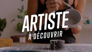 Infographie sur laquelle il est écrit : artiste à découvrir.
