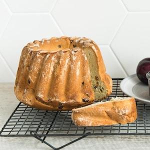 Un gâteau kouglof.
