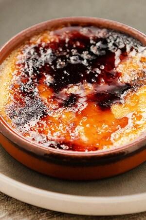 Crème brûlée au sucre d'érable de Nikolas.