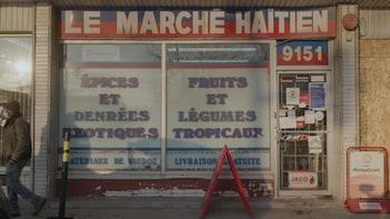La devanture du marché haïtien