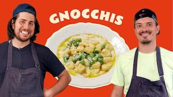 Les chefs Luca Cianciulli et Guillaume Couture et les fameux gnocchis du Moccione.