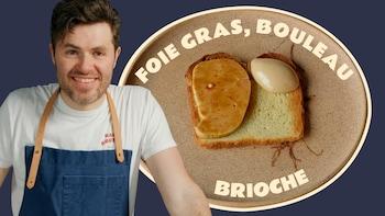 Julie Masia et le foie gras, bouleau, brioche du Arvi