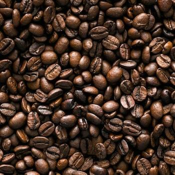 Gros plan sur des grains de café.