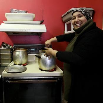Un couscous en préparation