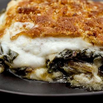 Gratin de bettes à carde façon macaroni au fromage d'Émilie Rizzetto.