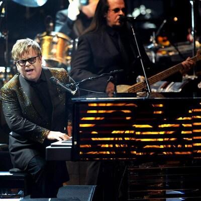 Elton John en concert au Colosseum du Caesars Palace à Las Vegas en 2011