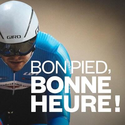 Hugo Barrette sur son vélo