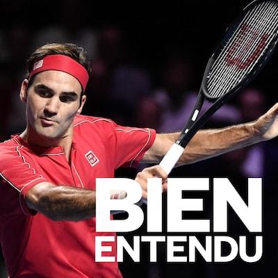 Roger Federer en plein match.
