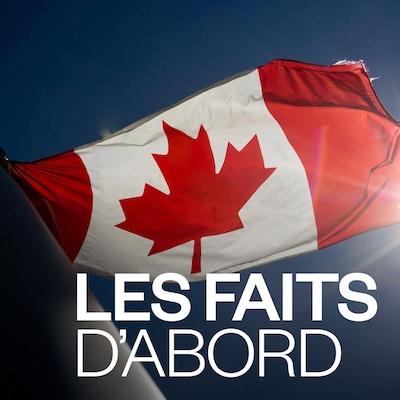 Un drapeau canadien flotte.