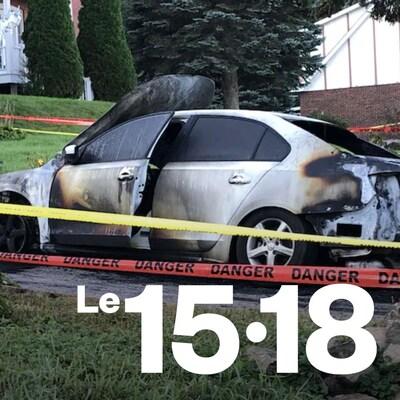 La voiture de la conseillère Alexandra Lauzon a été incendiée dimanche soir à Saint-Joseph-du-Lac.
