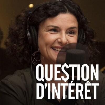 Chantal Fontaine répond aux questions de Catherine Perrin au studio 18 de Radio-Canada.