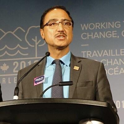 Le ministre des Ressources naturelles, Amarjeet Sohi, le 20 septembre 2018 à Halifax.