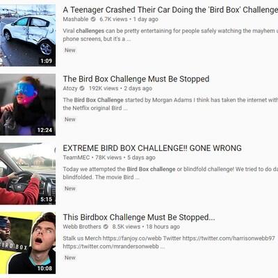 Capture d'écran du site YouTube