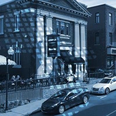 La rue Hériot au centre-ville de Drummondville