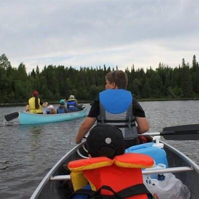 Canotage sur le lac Chicobi