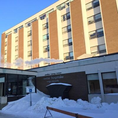 Le centre hospitalier de Rouyn-Noranda (pavillon Lemay-Juteau).