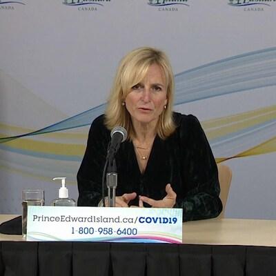 La Dre Heather Morrison, médecin hygiéniste en chef de l'Île-du-Prince-Édouard, le 23 novembre 2020.