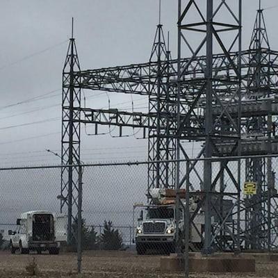 Une sous-station d'électricité