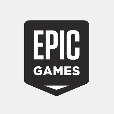 Le logo de l'éditeur Epic Games. Il s'agit d'un écusson aux coins arrondis.