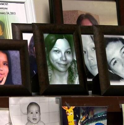 Photos de femmes autochtones disparues ou assassinées.