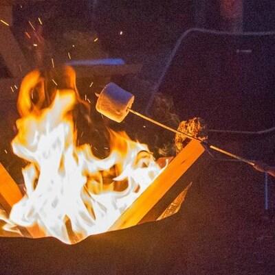Un feu de campé