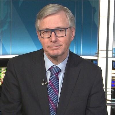 Guy Saint-Jacques dans les studios de Radio-Canada le 22 février 2019.