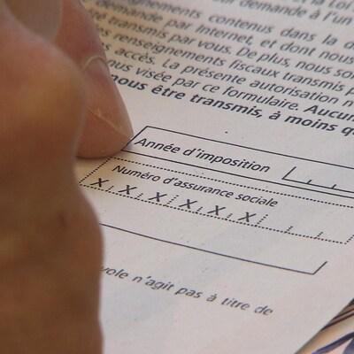 Une déclaration d'impôt.