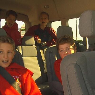 De jeunes joueurs de soccer de la région se rendent à Québec pour pratiquer leur sport.