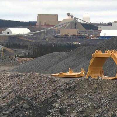 Le site de la mine du Lac Bloom, exploitée par l'entreprise Minerai de fer Québec.