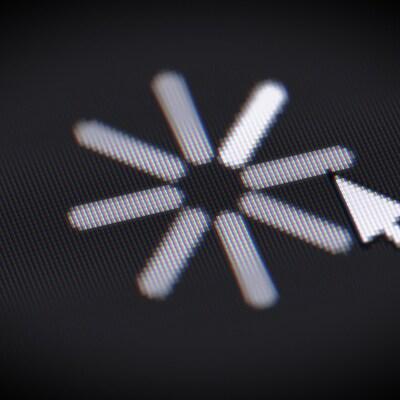 L'icône de chargement sur un écran.