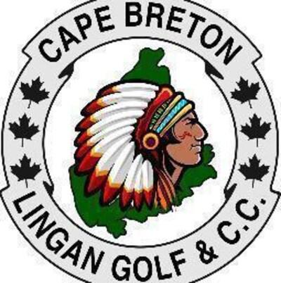 Le logo du bluc de golf montrant un autochtone avec une coiffe traditionnelle.