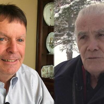 Michel Doucet et Lorio Roy dans un photomontage.