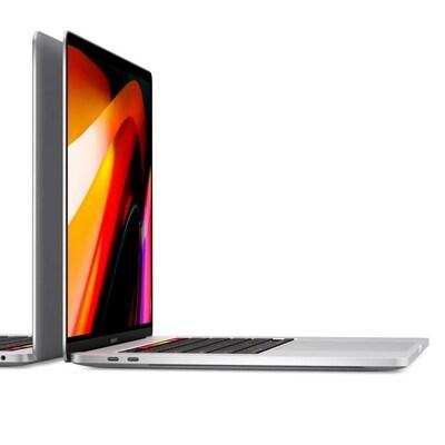 Deux ordinateurs MacBook Pro dos à dos.