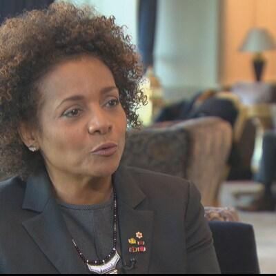 La secrétaire générale de l'OIF Michaëlle Jean répond aux questions d'Emmanuelle Latraverse.
