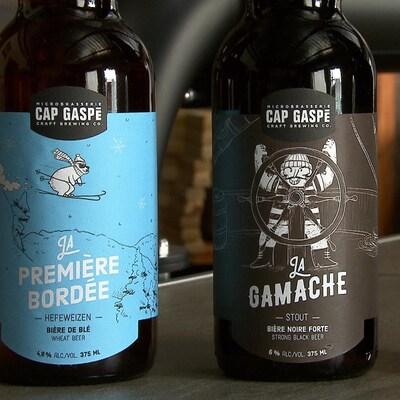 Des bières de la microbrasserie Cap Gaspé.
