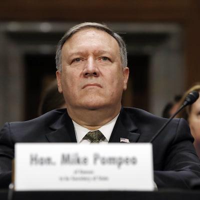 Mike Pompeo lors de son audition devant la  commission des Affaires étrangères, jeudi, à Washington