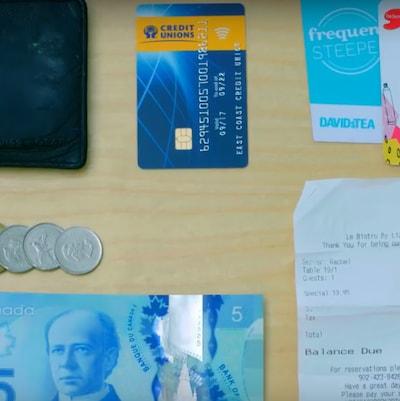 Le contenu des portefeuilles « oubliés » ici et là par Atlantic Credit Unions pour mener l'expérience sur l'honnêteté des citoyens de l'Atlantique.