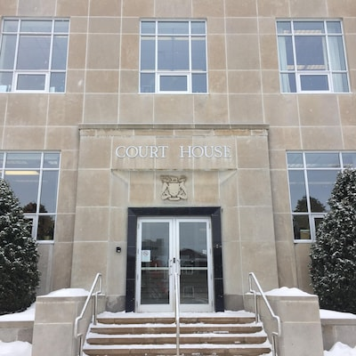 Le palais de justice à Sudbury.