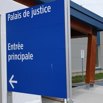 Le palais de justice temporaire de Rimouski