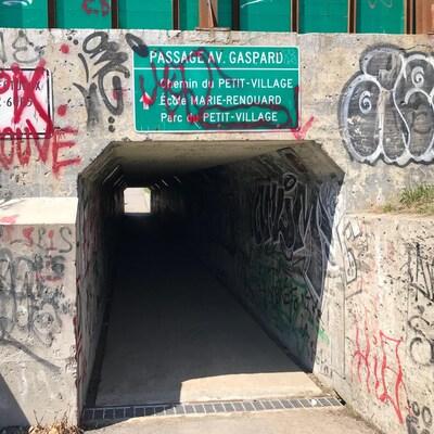 Le passage est situé sur l'avenue Gaspard, près de l'école Marie-Renouard
