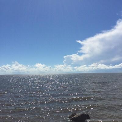 Le lac Winnipeg au Manitoba