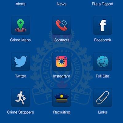 Capture d'écran de l'appli mobile.