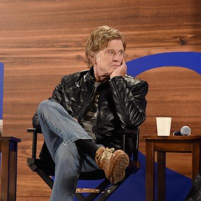 L'acteur et réalisateur Robert Redford lors d'une conférence de presse pour le festival Sundance, qu'il a fondé.