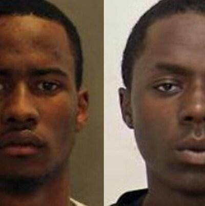 Photos côte à côte de deux hommes noirs.