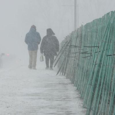 Première tempête hivernale à Québec.